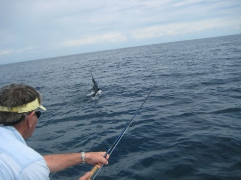 Angler Hooking a Sailfish